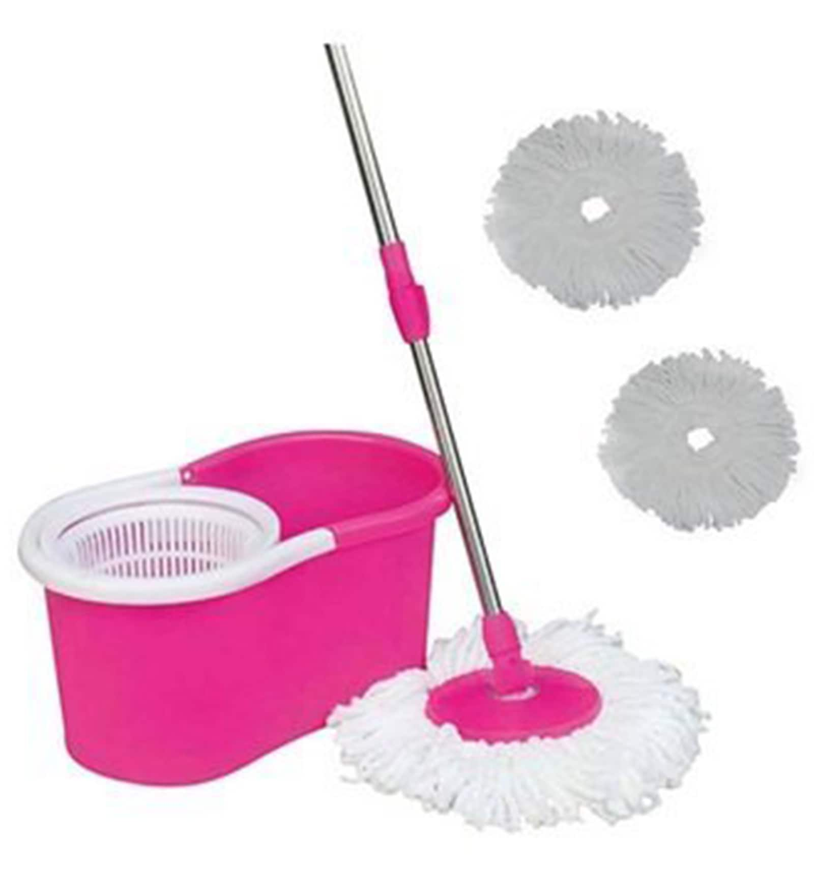 Reflection Easy Magic Plastic Pink Floor Mop with Plastic Dryer