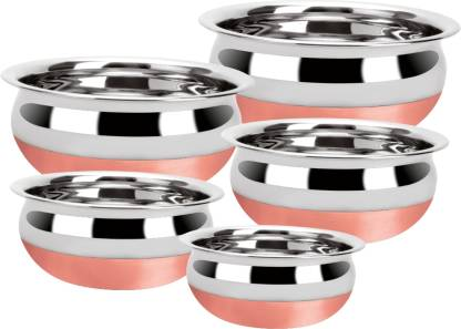 Renberg Steelix Pot Stainless Steel 5 - Piece Cookware Set