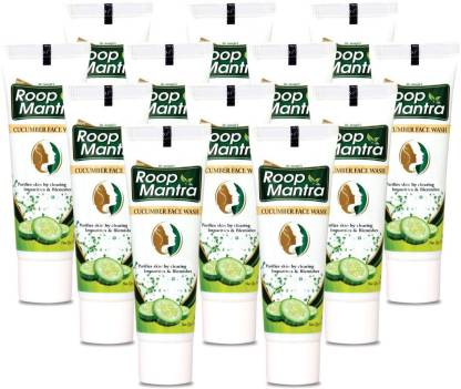 Roop Mantra Face Wash 20ml, Pack of 20 - Cucumber Face Wash for Men & Women