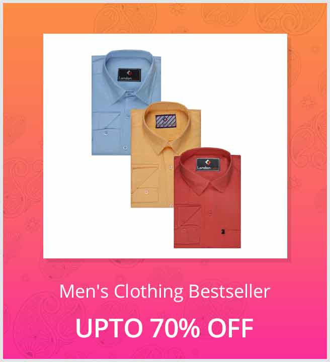 Shopclues - Best Selling Mens Clothes Upto 70% Discount + 2% as CluesBucks