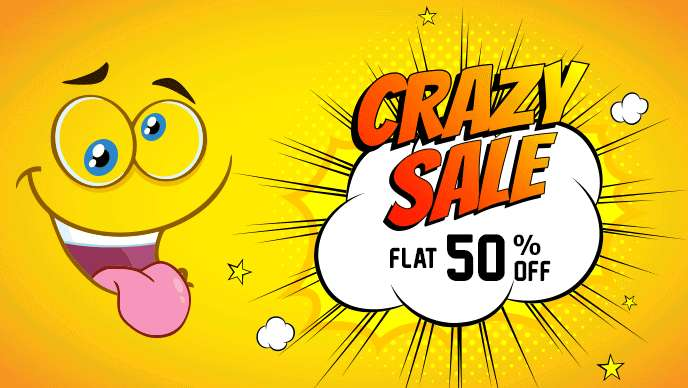 Shopclues - Crazy Sale Flat 50% Off on Everything +  20% SuperCash