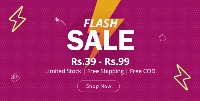 Shopclues - Month End Flash Sale Products Under Rs.99 + FreeShipping