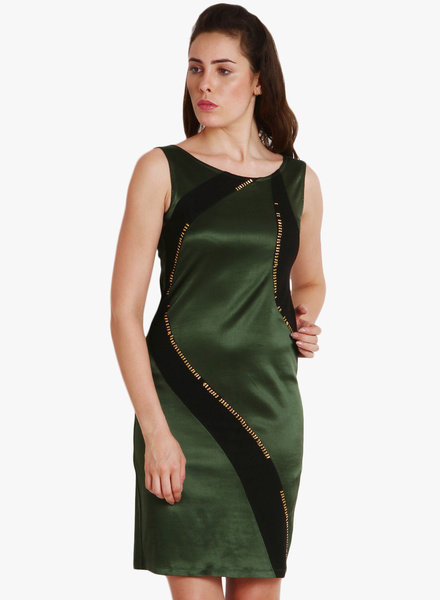 SoieGreen Coloured Embellished Shift Dress Flat 80% Discount