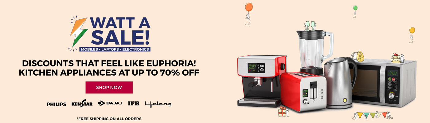 TataCliq - Watt A Sale Upto 70% Discount On Products + Extra 15% Discount With Standard Chattered