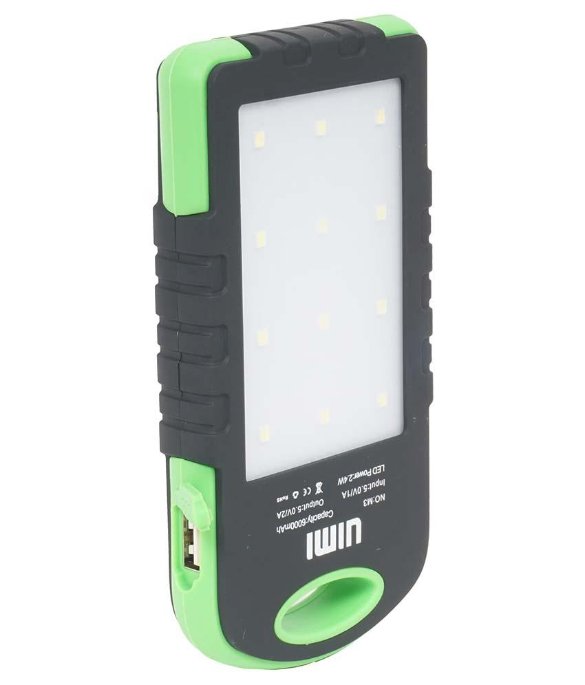 UIMI U3 6000 mAh Solar and water proof Power Bank