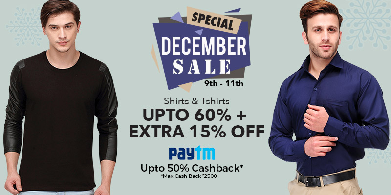 Voonik - Special December Sale Upto 70 Discount + 20% Cashback