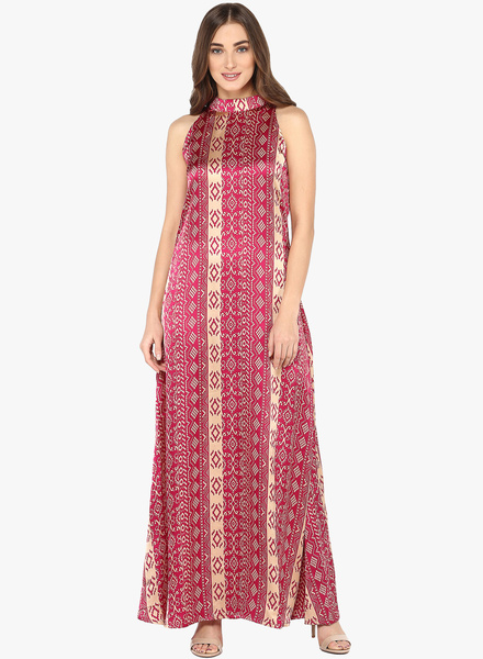 Vvine Magenta Printed Maxi Dress