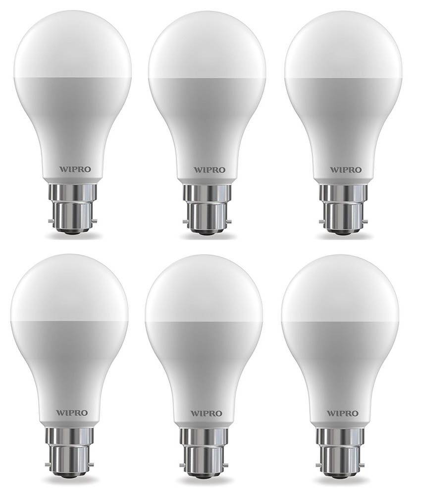 Wipro 15W (Pack of 6) LED Bulb Cool Day Light
