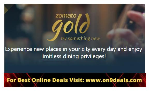 Zomato Gold 1 Year Subscription
