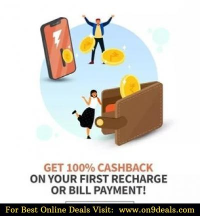 FreeCharge - 100% Cashback Max Rs. 50 On 1st Ever Recharge & Bill Payments