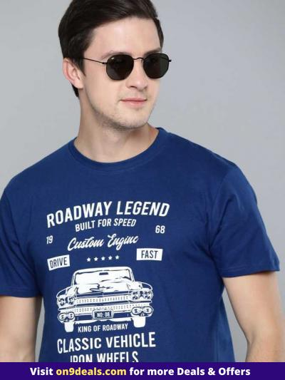 Here Now Men's T Shirts upto 80% Discount From Rs.131