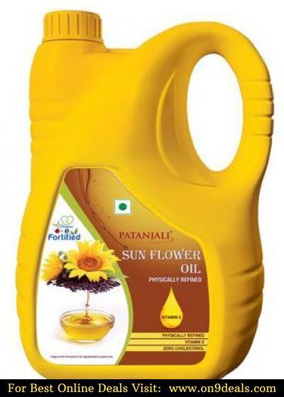 Patanjali Fortified Sunflower Oil 5 L
