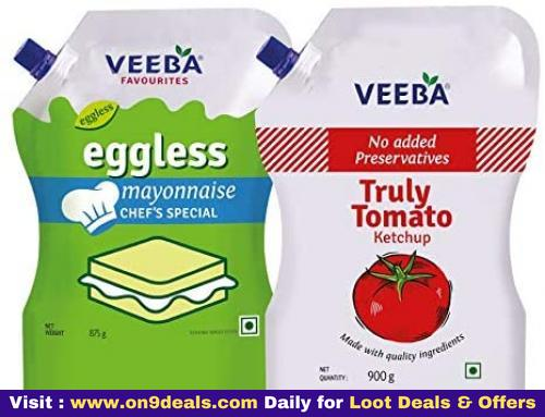 Veeba Eggless Mayonnaise Chef's Special, 875 g & Truly Tomato Ketchup, 900 g - Pack of 2