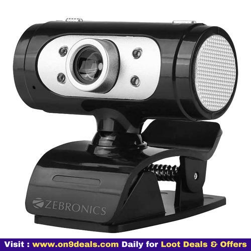 Zebronics Zeb-Ultimate Pro (Full HD) 1080p/30fps Webcam with 5P Lens, Built-in Mic, Auto White Balance, Night Vision, Manual Switch for LED